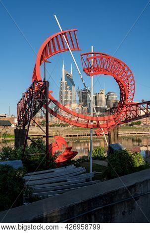 Nashville, Tennessee - 28 June 2021: Ghost Ballet For The East Bank Machine Works Sculpture Frames N