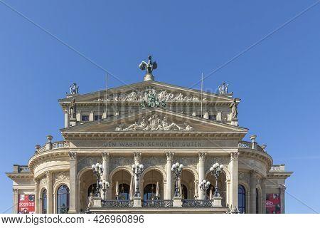 Frankfurt, Germany - June 13, 2021: The Opera House (alte Oper) In Frankfurt Am Main.