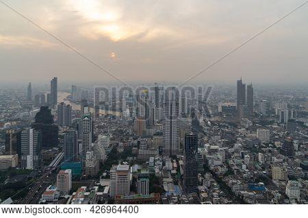 Bangkok City Thailand air pollution remains at hazardous levels PM2.5  pollutants - dust and smoke h