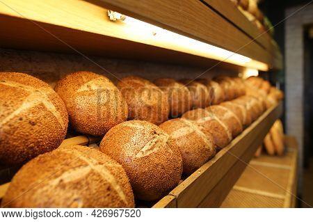 Baked Walnut Breads, Floury Products, Bakery And Bakery