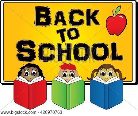 Back To School Creative Banner To Welcome School School Kids