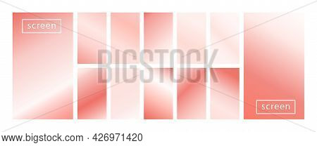 Mobile Screen Lock Display Collection Of Colorful Backgrounds In Trendy Pink Pastel Colors. Modern S