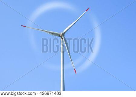 Wind Turbine . Reopening Of Wind Turbines , Sky, Beautiful Landscape