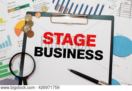 Text Sign Showing Stage Business. Conceptual Photo Purchasing Process That Businesses Lead Their Cus