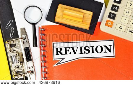 Revision. The Inscription On The Accountant's Folder. Survey Of The Financial And Economic Activitie