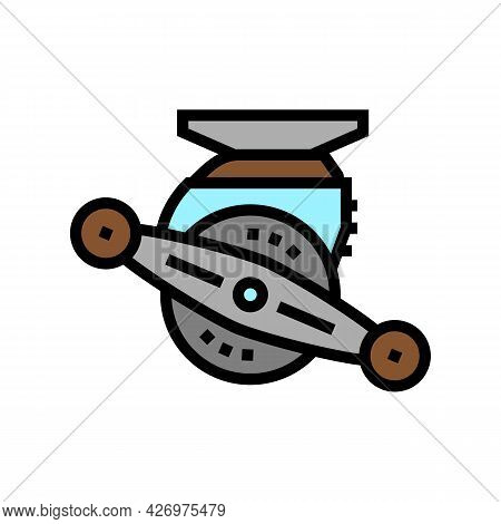 Bait Cast Reel Color Icon Vector. Bait Cast Reel Sign. Isolated Symbol Illustration