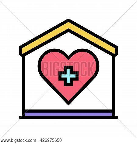 Home Care Service Color Icon Vector. Home Care Service Sign. Isolated Symbol Illustration