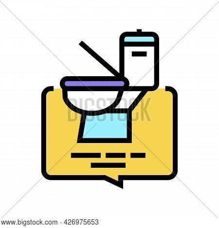 Toilet Use Homecare Service Color Icon Vector. Toilet Use Homecare Service Sign. Isolated Symbol Ill