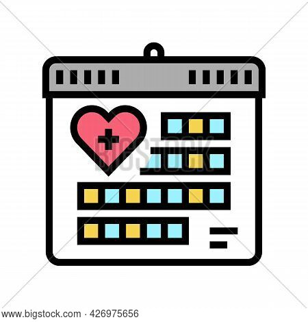 Schedule Homecare Service Color Icon Vector. Schedule Homecare Service Sign. Isolated Symbol Illustr