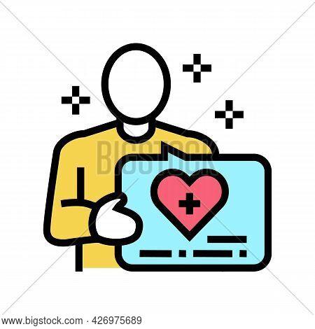 Volunteer Homecare Service Color Icon Vector. Volunteer Homecare Service Sign. Isolated Symbol Illus