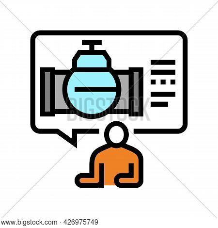 Consultation Pipeline Construction Color Icon Vector. Consultation Pipeline Construction Sign. Isola