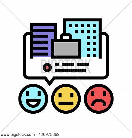 Reviews Business Services Color Icon Vector. Reviews Business Services Sign. Isolated Symbol Illustr