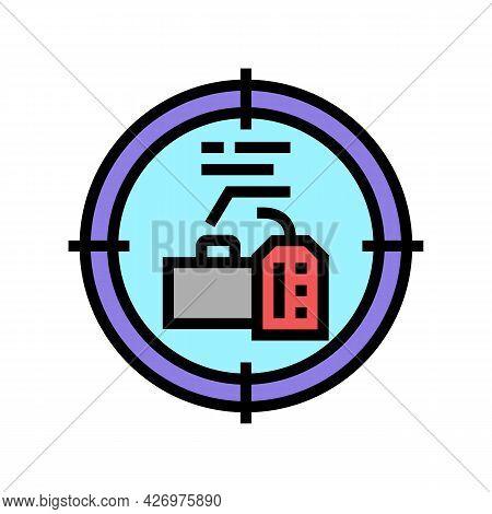 Goals Reputation Management Color Icon Vector. Goals Reputation Management Sign. Isolated Symbol Ill