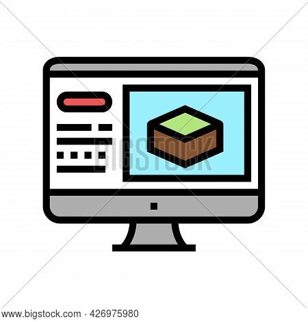 Information Of Soil On Computer Screen Color Icon Vector. Information Of Soil On Computer Screen Sig