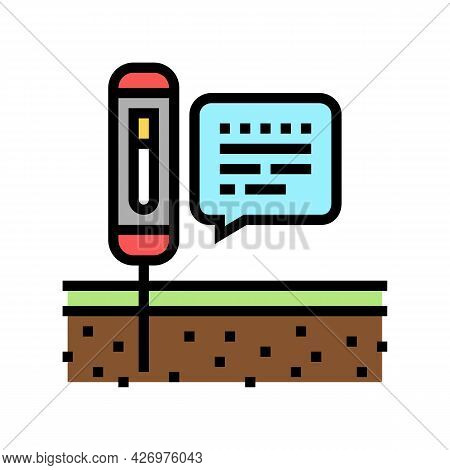 Device For Ph Soil Testing Color Icon Vector. Device For Ph Soil Testing Sign. Isolated Symbol Illus