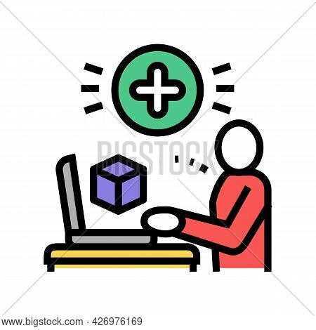 User Social Media Ugc Color Icon Vector. User Social Media Ugc Sign. Isolated Symbol Illustration