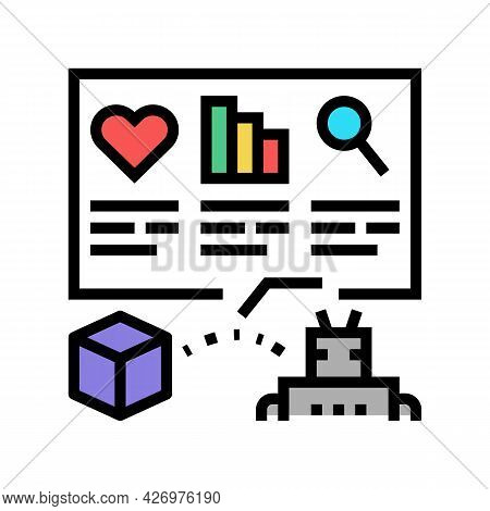 Automatically Analyzing Ugc Color Icon Vector. Automatically Analyzing Ugc Sign. Isolated Symbol Ill