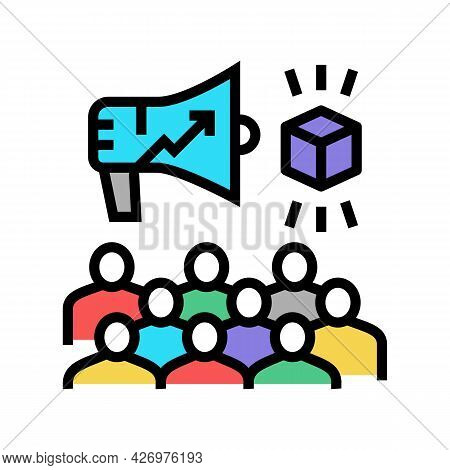 Growth Advertising Review Ugc Color Icon Vector. Growth Advertising Review Ugc Sign. Isolated Symbol