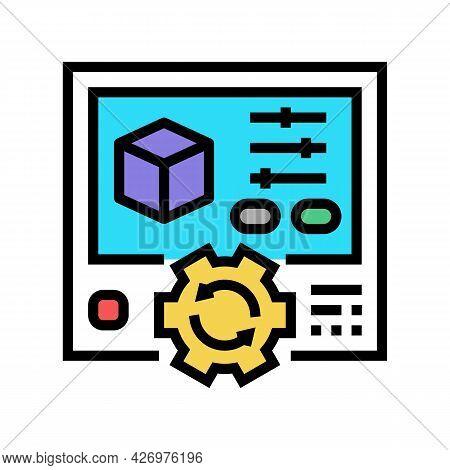 Setting Ugc Color Icon Vector. Setting Ugc Sign. Isolated Symbol Illustration
