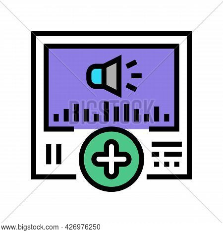 Audio Message Ugc Color Icon Vector. Audio Message Ugc Sign. Isolated Symbol Illustration