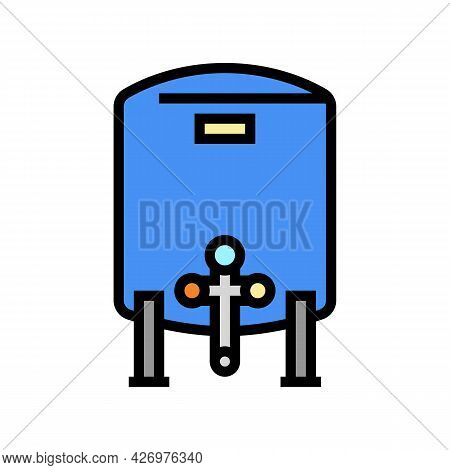 Tank With Water Filter Color Icon Vector. Tank With Water Filter Sign. Isolated Symbol Illustration