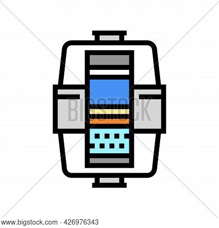 Layers In Water Filter Color Icon Vector. Layers In Water Filter Sign. Isolated Symbol Illustration