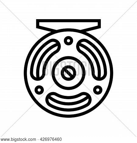 Fly Fishing Line Icon Vector. Fly Fishing Sign. Isolated Contour Symbol Black Illustration