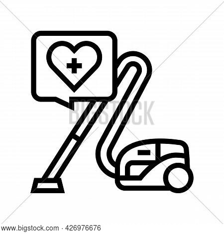Cleaning Homecare Service Line Icon Vector. Cleaning Homecare Service Sign. Isolated Contour Symbol
