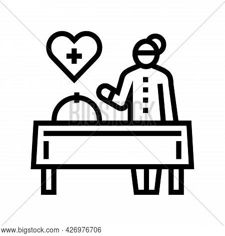 Cooking Homecare Service Line Icon Vector. Cooking Homecare Service Sign. Isolated Contour Symbol Bl