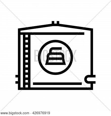 Water Tank Cleaning Line Icon Vector. Water Tank Cleaning Sign. Isolated Contour Symbol Black Illust