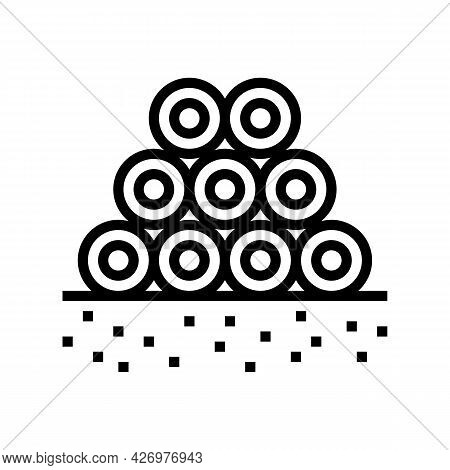Pipeline Heap Line Icon Vector. Pipeline Heap Sign. Isolated Contour Symbol Black Illustration