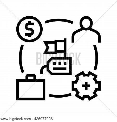 Business Process Of Reputation Management Line Icon Vector. Business Process Of Reputation Managemen