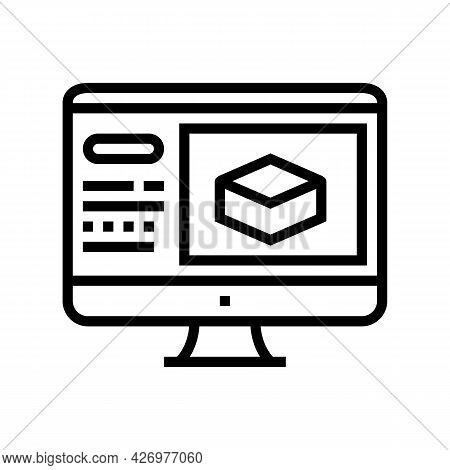 Information Of Soil On Computer Screen Line Icon Vector. Information Of Soil On Computer Screen Sign