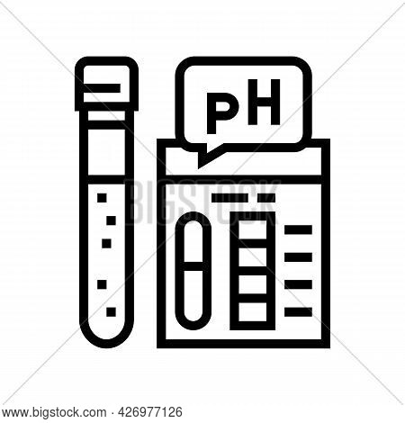 Ph Soil Testing Line Icon Vector. Ph Soil Testing Sign. Isolated Contour Symbol Black Illustration