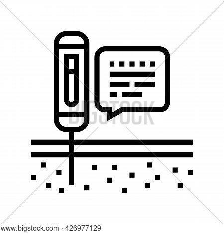 Device For Ph Soil Testing Line Icon Vector. Device For Ph Soil Testing Sign. Isolated Contour Symbo