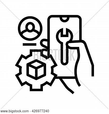 Settings And Fixing Account Ugc Line Icon Vector. Settings And Fixing Account Ugc Sign. Isolated Con