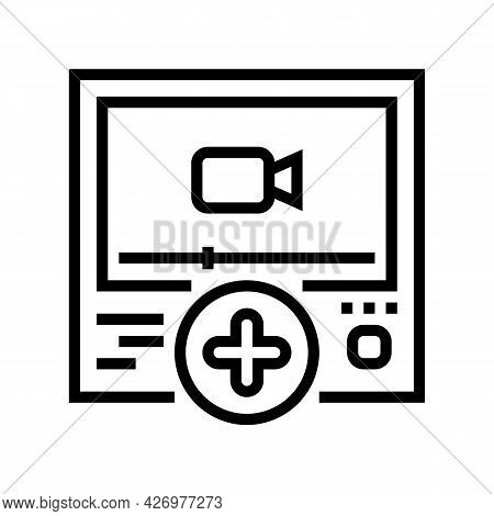 Video Content Ugc Line Icon Vector. Video Content Ugc Sign. Isolated Contour Symbol Black Illustrati
