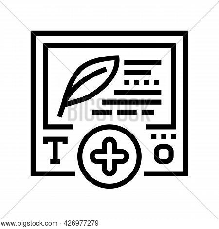 Text Content Ugc Line Icon Vector. Text Content Ugc Sign. Isolated Contour Symbol Black Illustration