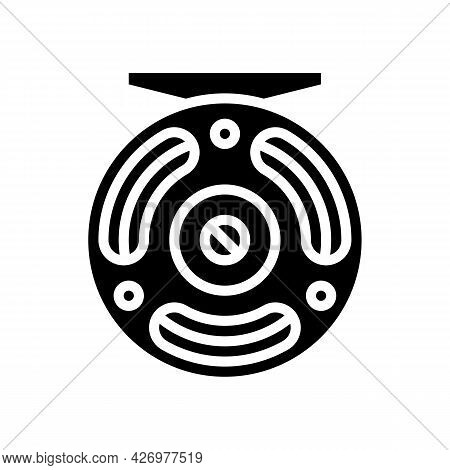 Fly Fishing Glyph Icon Vector. Fly Fishing Sign. Isolated Contour Symbol Black Illustration