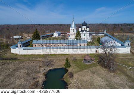 View Of Zelenetsky Trinity Monastery On A Sunny April Day. Zelenets, Leningrad Region. Russia
