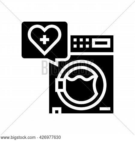 Wash Laundry Homecare Service Glyph Icon Vector. Wash Laundry Homecare Service Sign. Isolated Contou