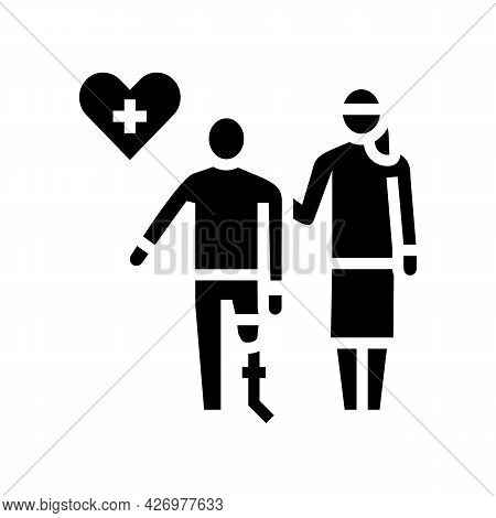 Personal Care Homecare Service Glyph Icon Vector. Personal Care Homecare Service Sign. Isolated Cont