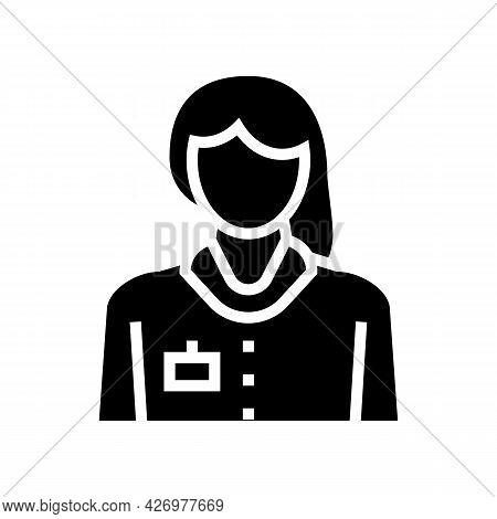 Nurse Homecare Service Glyph Icon Vector. Nurse Homecare Service Sign. Isolated Contour Symbol Black