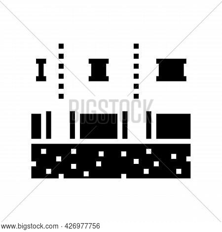 Stages Of Pipeline Construction Glyph Icon Vector. Stages Of Pipeline Construction Sign. Isolated Co