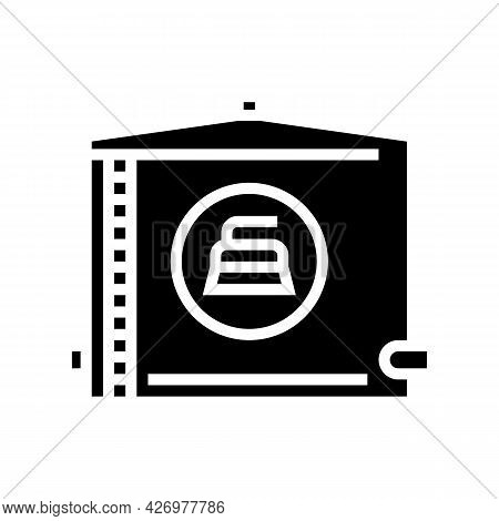 Water Tank Cleaning Glyph Icon Vector. Water Tank Cleaning Sign. Isolated Contour Symbol Black Illus