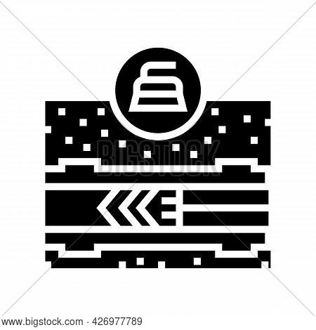 Cleaning Pipeline Construction Technology Glyph Icon Vector. Cleaning Pipeline Construction Technolo