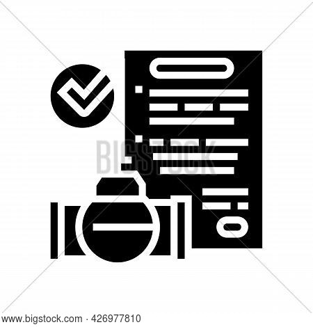 Contract Pipeline Construction Service Glyph Icon Vector. Contract Pipeline Construction Service Sig
