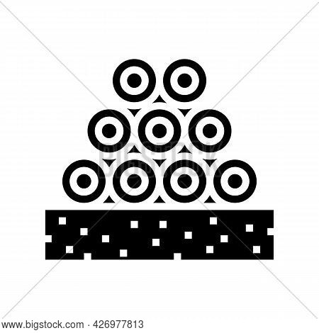 Pipeline Heap Glyph Icon Vector. Pipeline Heap Sign. Isolated Contour Symbol Black Illustration
