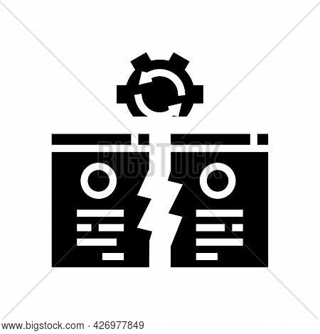 Competitive Website Glyph Icon Vector. Competitive Website Sign. Isolated Contour Symbol Black Illus