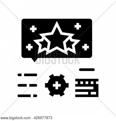 Reputation Management Glyph Icon Vector. Reputation Management Sign. Isolated Contour Symbol Black I